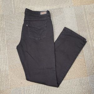Levi's 505 straight legged jeans